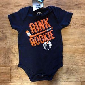 Edmonton Oilers baby onesie